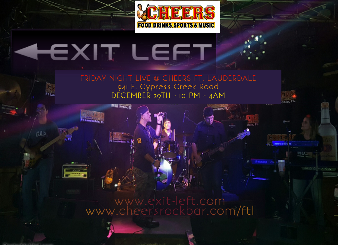 Exit Left Live at Jada Coles Beautiful Image Flyers