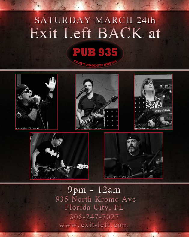Exit Left Live at Pub 935 Restaurant Capri Florida City