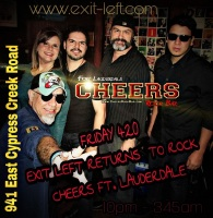 Exit Left Rocks Cheers Ft. Lauderdale, Exit Left, Exit Left Band, South Florida's Best Rock Cover Band