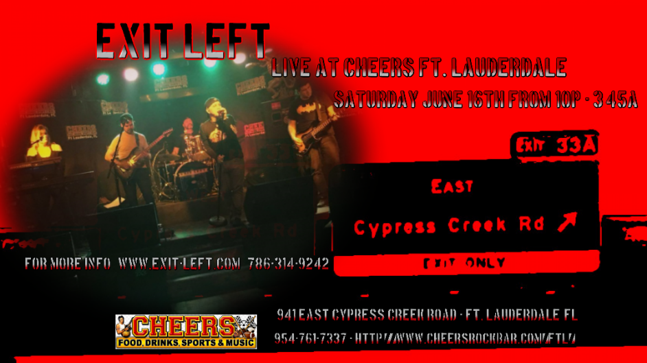 Exit Left Live, Exit Left Rocks, Best Cover Band in South Florida, Cover Band, Cover Bands, South Florida Cover Band, South Florida Cover Bands