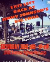 Exit Left Band, Jimmy Johnson's Big Chill, Key Largo Live Music, Live Music, Best Band in South Florida, Cover Bands, Party Band in South Florida