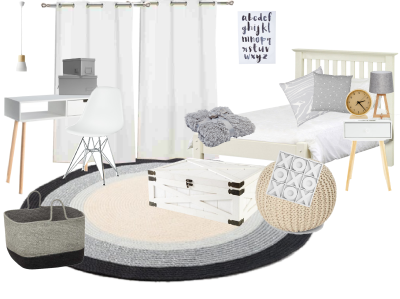 Child Bedroom Makeover - Design Sample Board