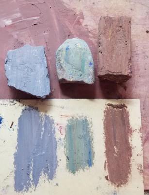 new pastel sticks from scraps
