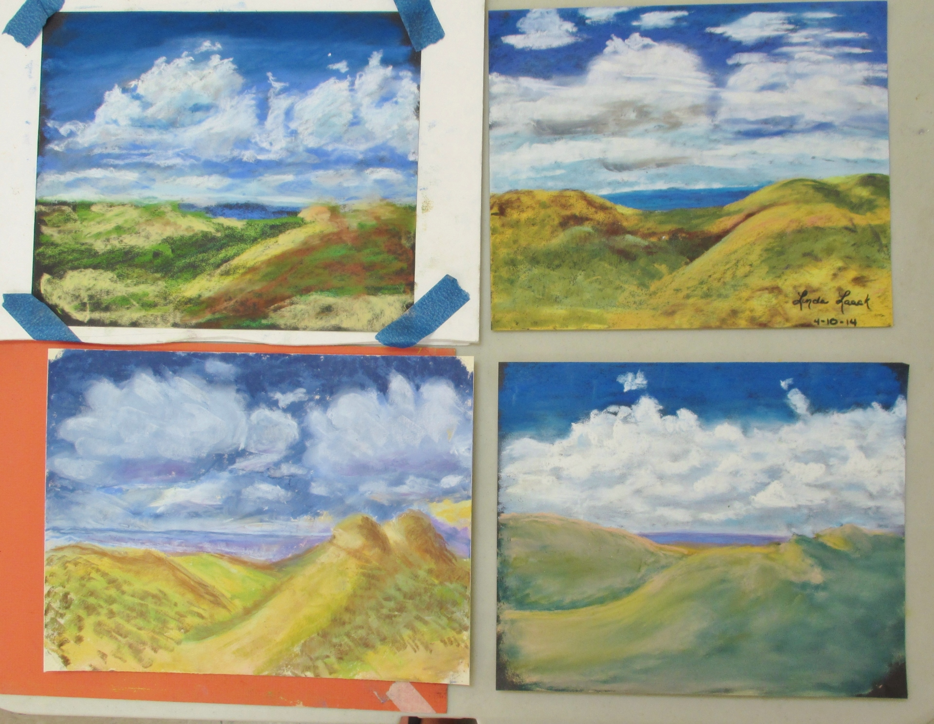cloud studies, students' work