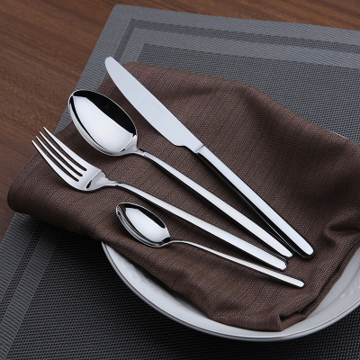 Dinnerware Set Cutlery Set Stainless Steel Flatware 24 Pieces Set Dinner Set Classic Knife Fork Spoon Western Dining