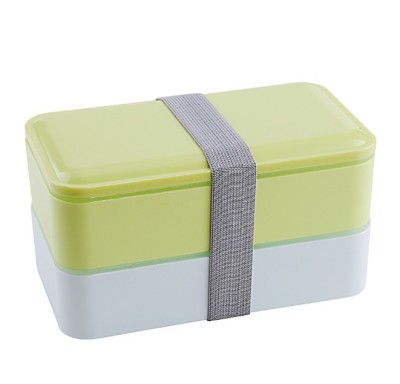 High Quality 1000ml Double Layer Lunch Box Microwave Oven Bento Boxes Food Storage Container Lunchbox With
