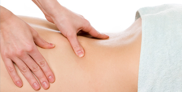 Benefits of a massage.  Feel relaxed by massage.