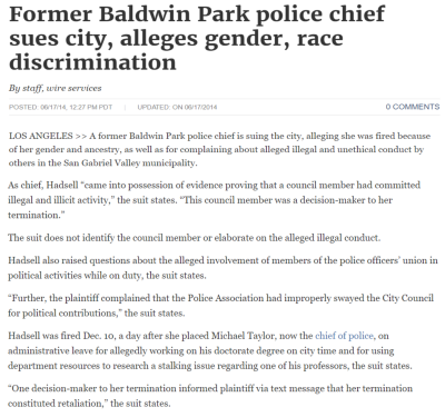 Former Police Chief Sues City because of Pacheco's Abuse