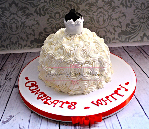 Wedding Dress, better batter bakes, cakes, wedding dress cake