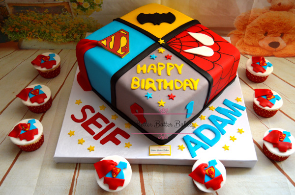 spiderman cake, better batter bakes, cakes