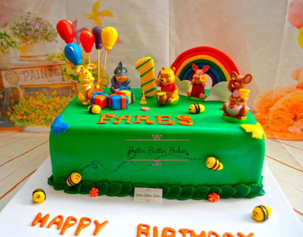 winnie the pooh cake, better batter bakes, cakes