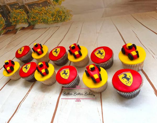 ferrari cupcakes, better batter bakes, cakes