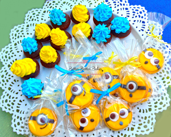 minions cookies, better batter bakes, cakes