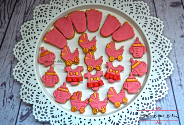 betterbatterbakes, better batter bakes, babyshower , babyshowercookies, cookies, cute, pink