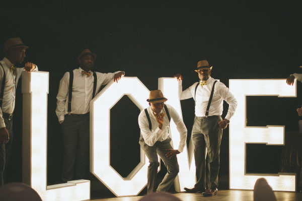 Love letters and groomsmen