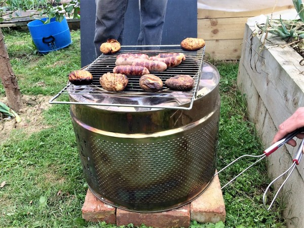 Washing machine drum bbq