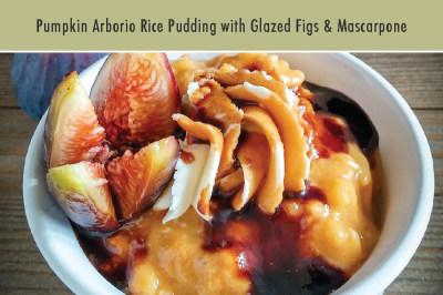 Pumpkin Arborio Rice Pudding with Glazed Figs & Mascarpone