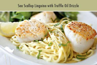 Sea Scallop Linguine with Truffle Oil Drizzle
