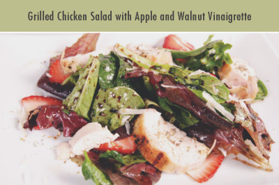 Grilled Chicken Salad with Apple and Walnut Vinaigrette