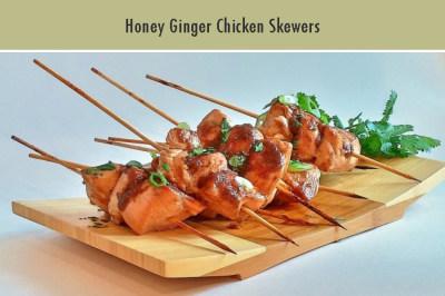 Honey Ginger Chicken Skewers
