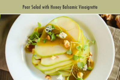 Pear Salad with Honey Balsamic Vinaigrette