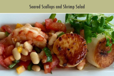 Seared Scallops and Shrimp Salad