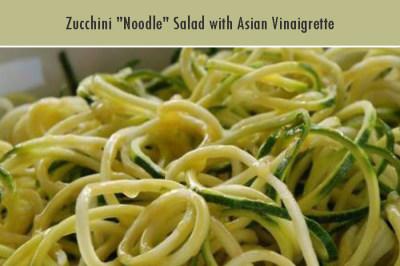 """Zucchini """"Noodle"""" Salad with Asian Vinaigrette"""