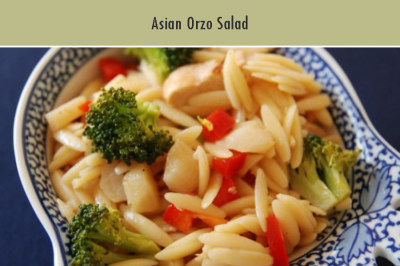 Asian Orzo Salad