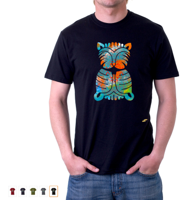 Colorful Cat - $21.99 Sale (Was $24.99), 100% Cotton, Fitted