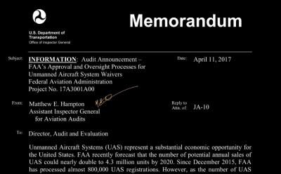 FAA Under Audit!!!  ...