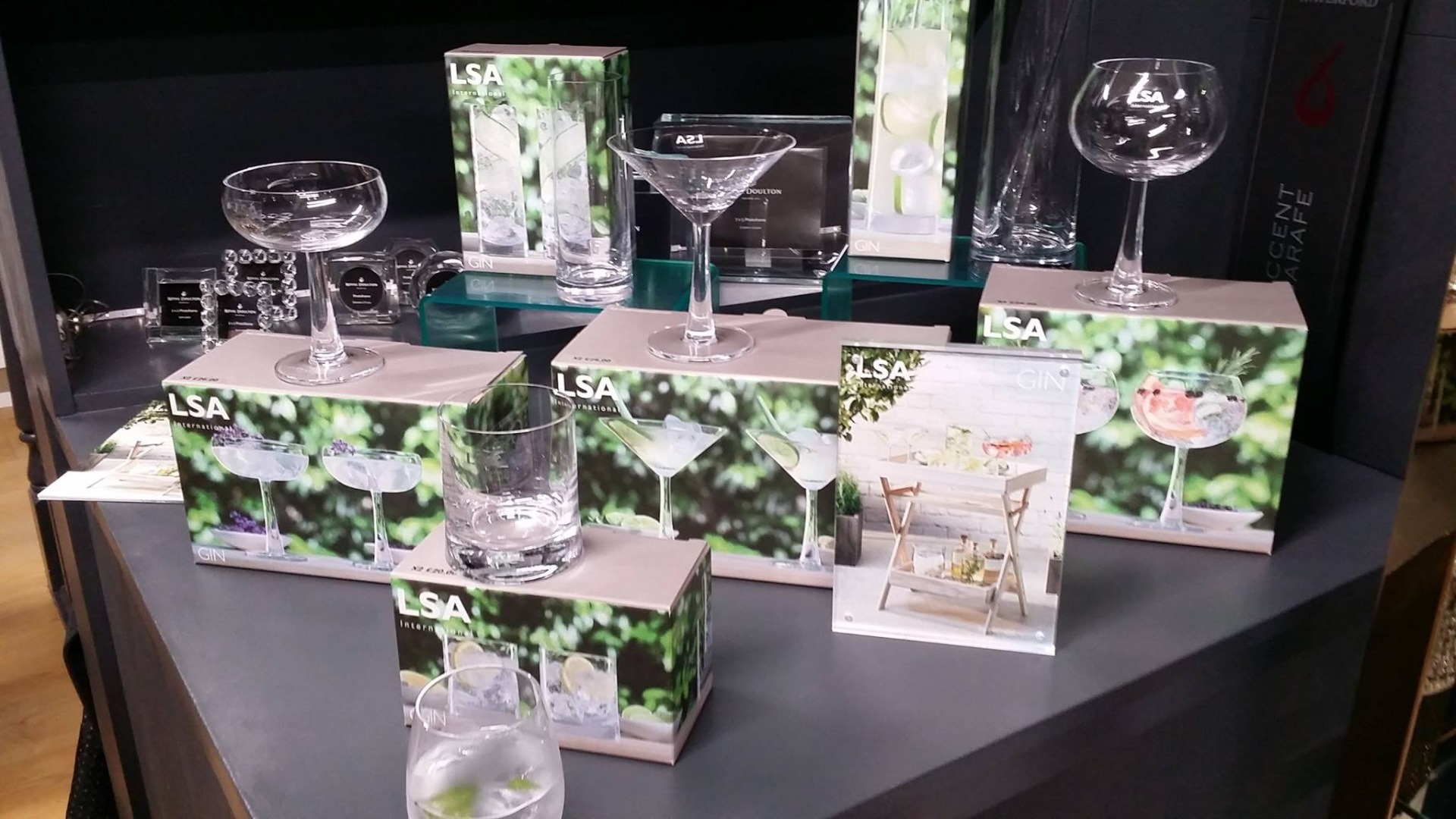 Gin glassware launch event