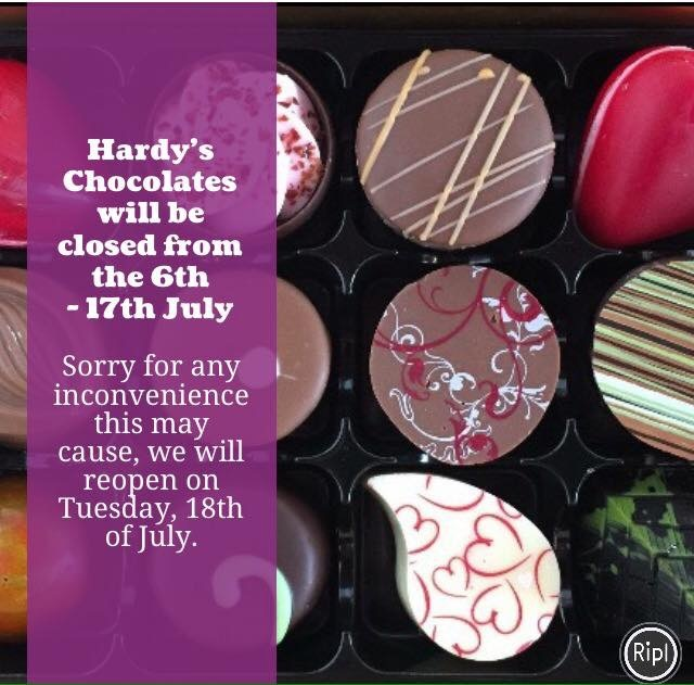 Hardy's closed for summer break