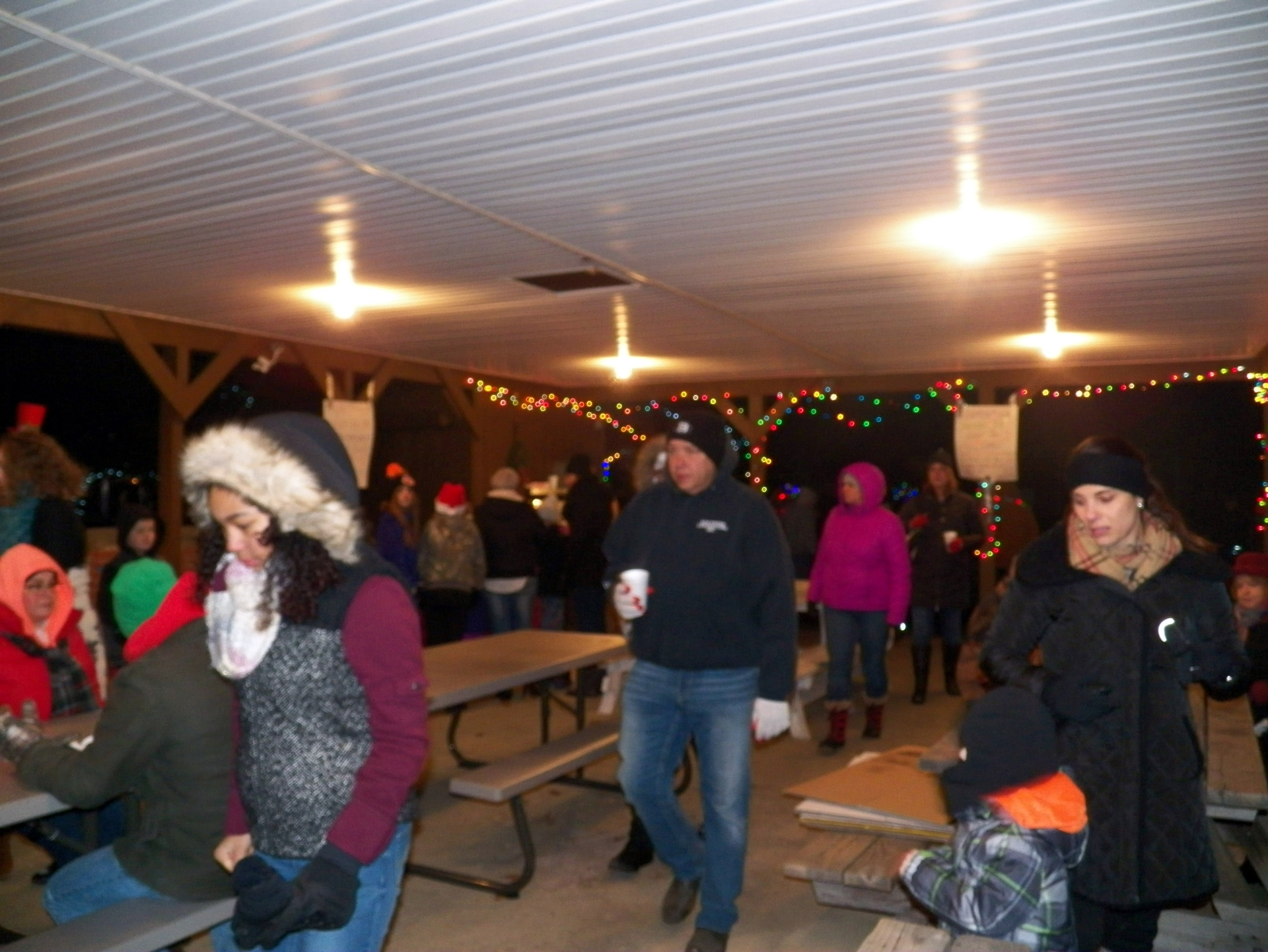 Cookies, hot chocolate and popcorn at the shelter house