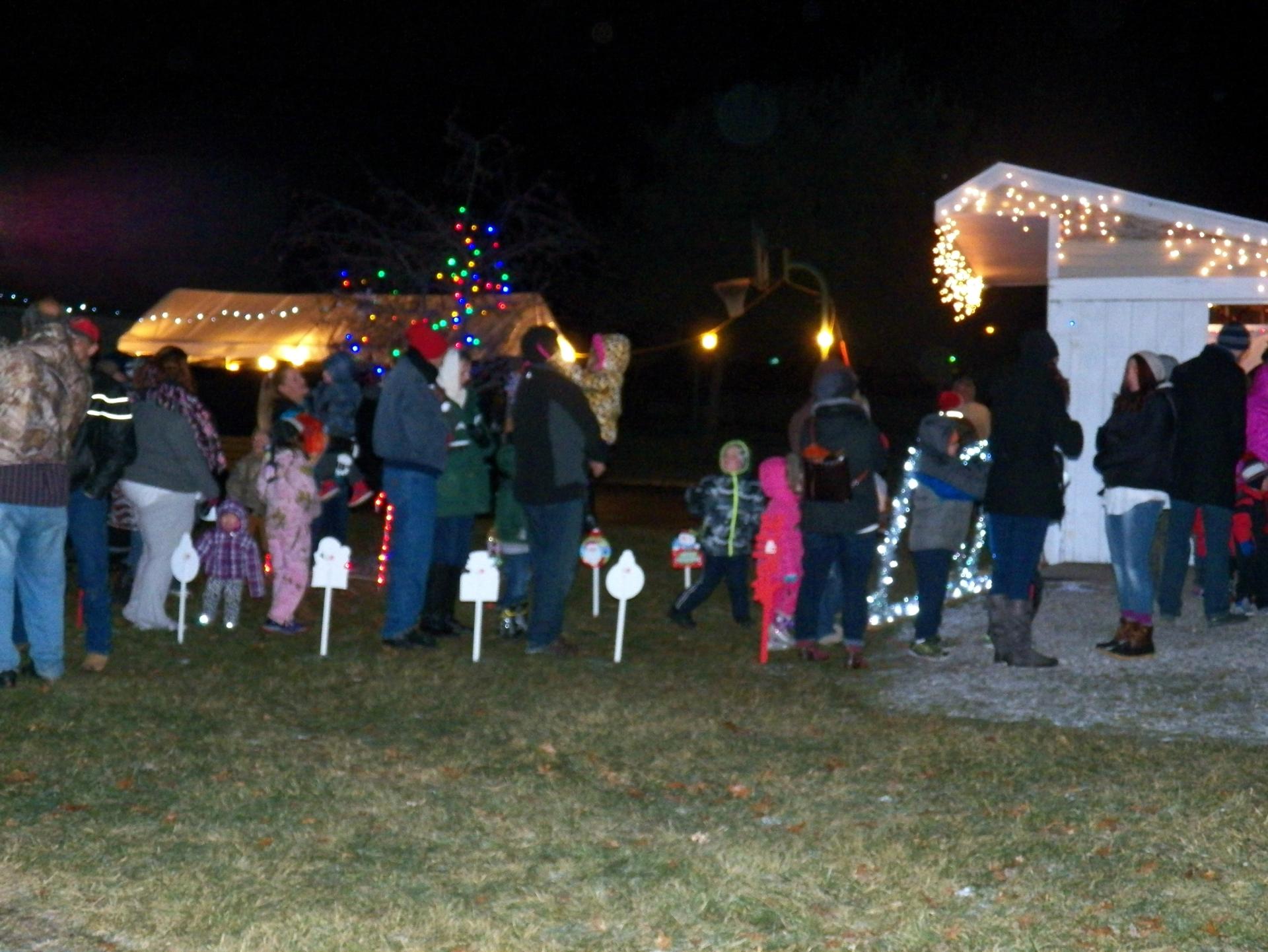 Line to see Santa!