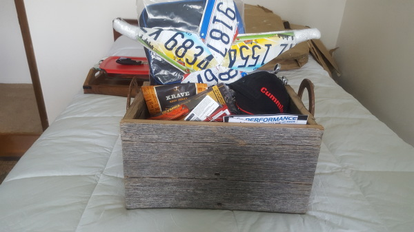 Wooden box and Misc