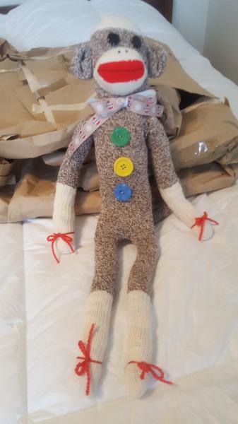 One Sock Monkey Doll