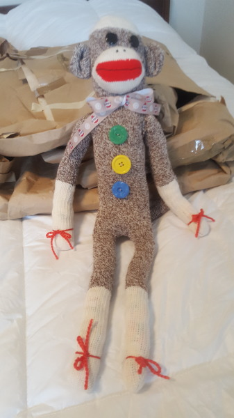 One Sock Monkey Doll