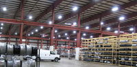 Warehouse with industrial LED lights