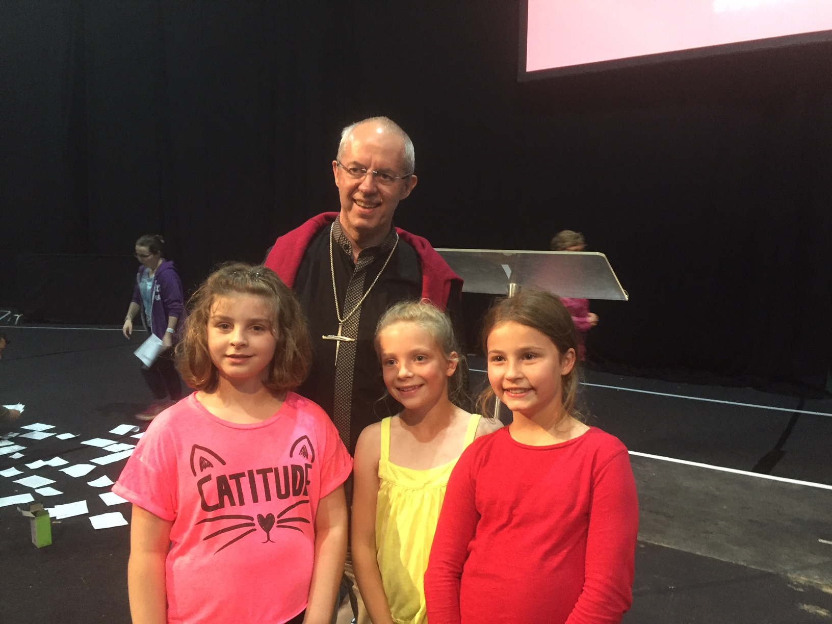 Some of our children meeting Archbishop Justin Welby