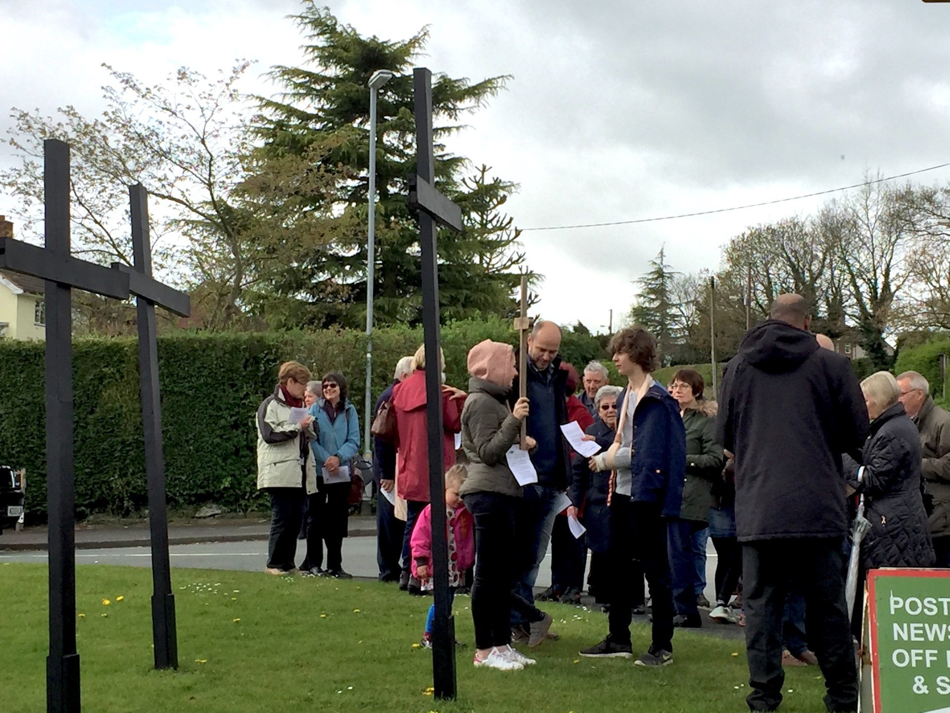 Gathering at the crosses