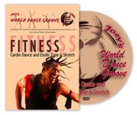 Joey's World Dance Groove Fitness Cardio Dance & Exotic Tone & Stretch DVD