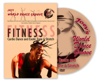Joey's World Dance Groove Fitness Cardio Dance & Exotic Tone & Stretch DVD