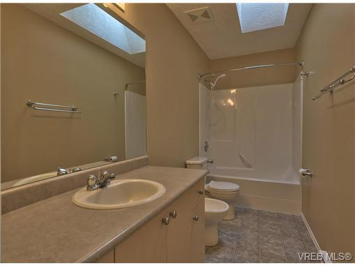 skylight in bathroom, bidet, full bath, clean and bright