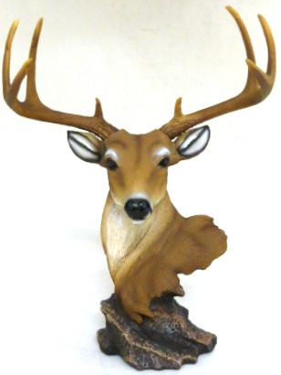 D37918 New Dawn Deer Head on Rock
