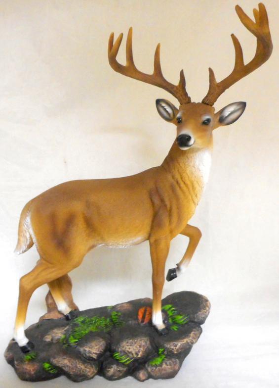 HD44611 Stepping Up Deer Figurine