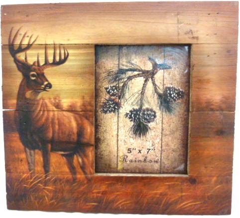 RA9972 Deer Wooden Frame