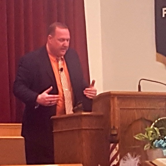 Pastor Matt preaching the Word