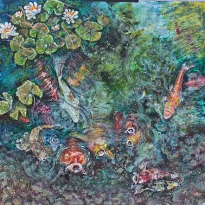 Koi Pond Mural