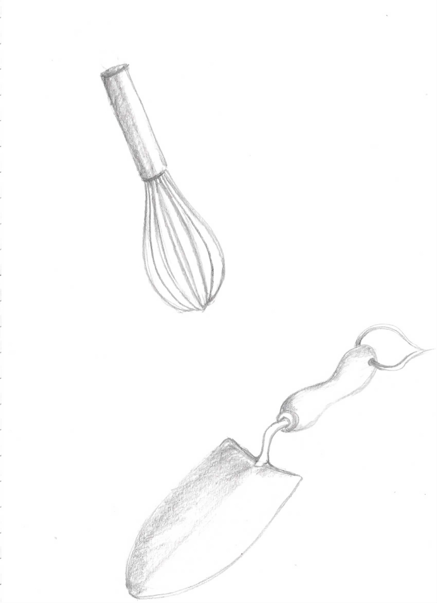 kitchen and garden tool drawings