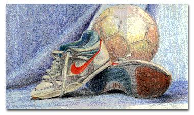Soccer, color pencils